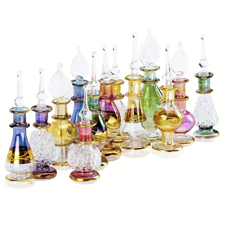 "1093a0324b12 Amazon.com: Egyptian Perfume Bottles Wholesale Set Of 12 Size 2"" (5 ..."