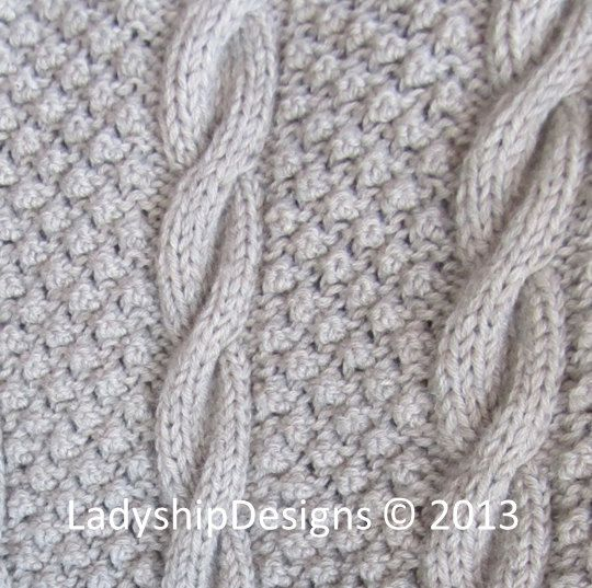 PDF KNITTING PATTERN, Cable knit blanket pattern, Blackberry Cables ...