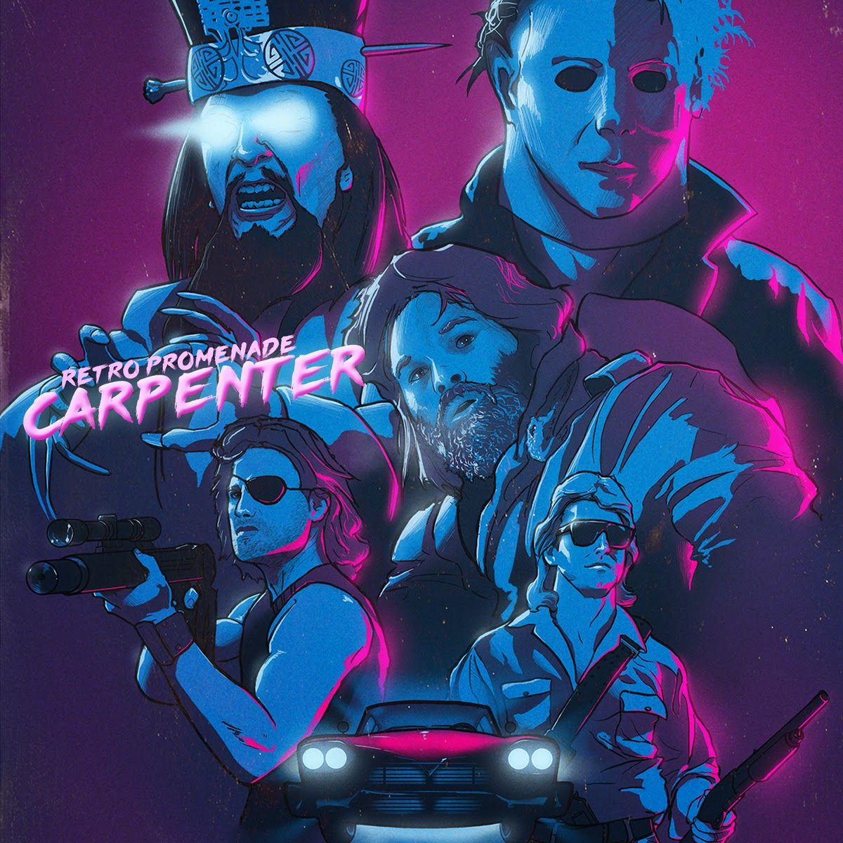 John Carpenter Films Inspire Retro Promenade Album Art