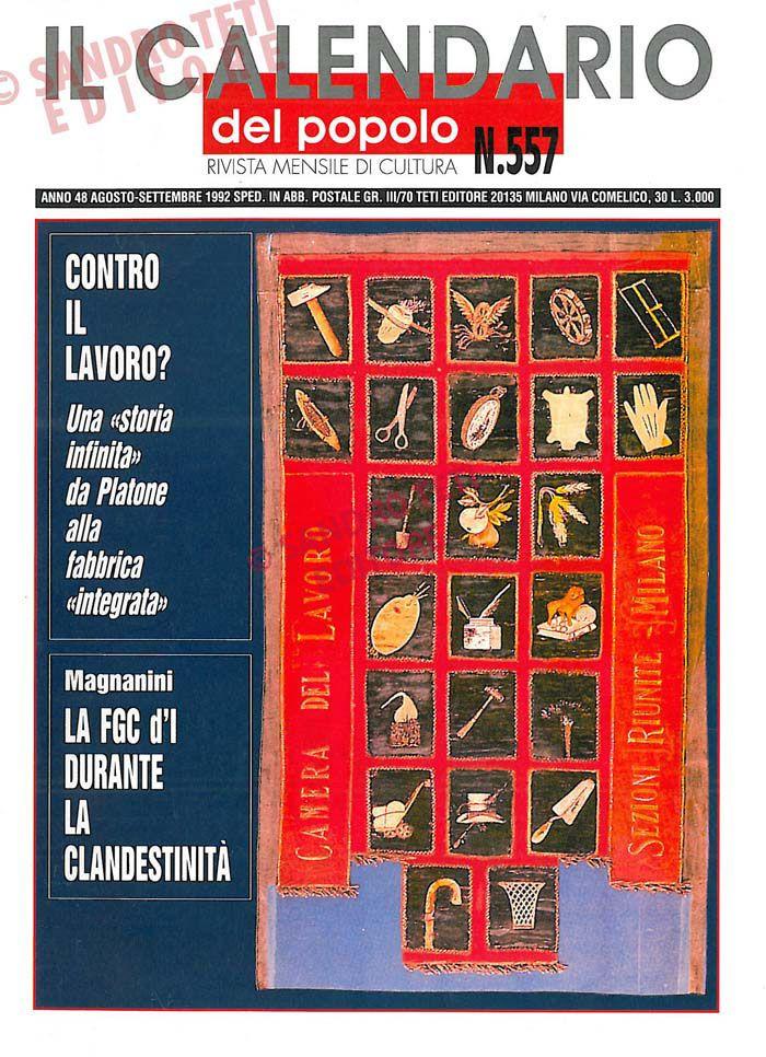 Calendario Anno 1992.Il Calendario Del Popolo N 557 1992 Il Calendario Del
