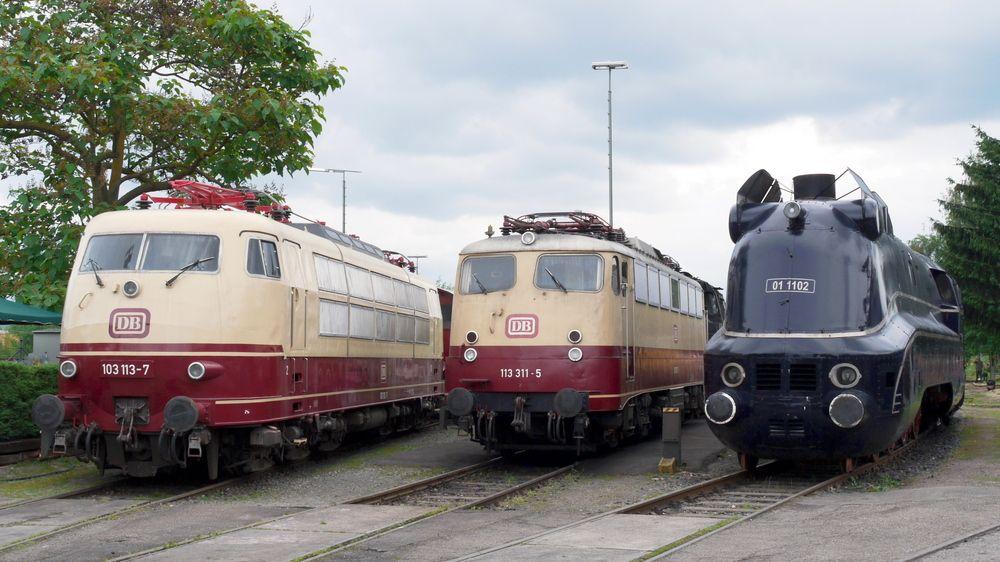 Schnellzugloktreffen Eisenbahn Eisenbahnmuseum Alte Zuge