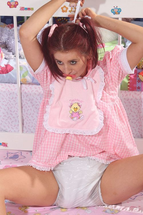 Adult baby girl diaper