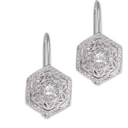 Diamond Filigree Lever Back Earrings Emmaparkerdiamonds