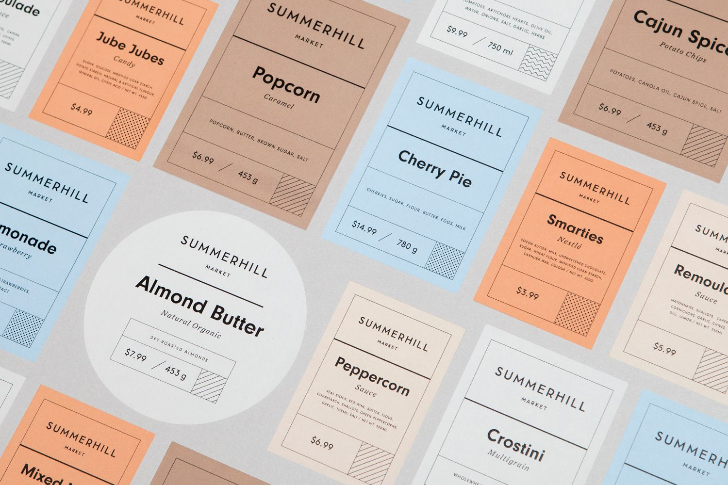 Summerhill Market by Blok, Canada. #branding #supermarket #labels