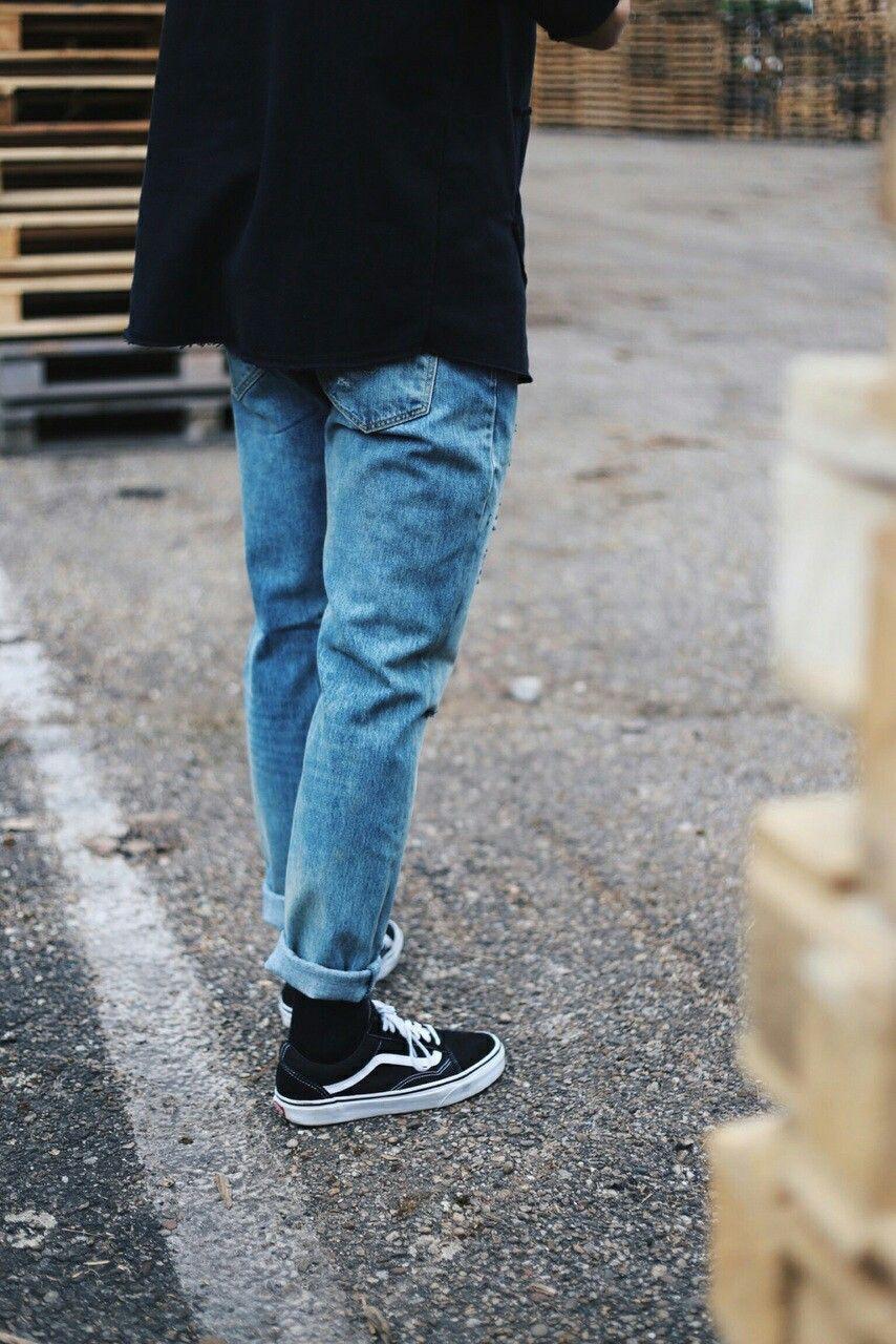 Men outfit 2017 vans old skool   Streetwear fashion, Vans