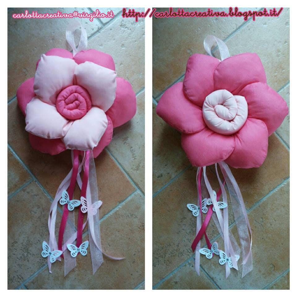 Photo of Ghirlanda doubleface a forma di fiore con farfalle e strass! Colore rosa / fucsia