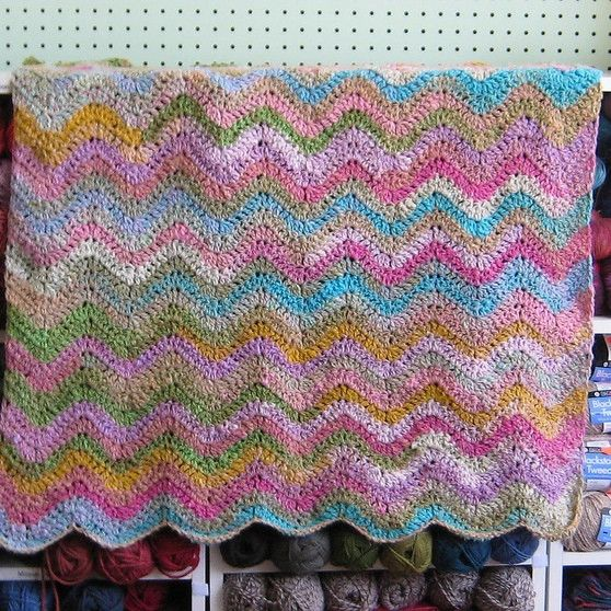 Simple Crochet Ripple Baby Blanket Pattern - FREE – Knit-O-Matic ...