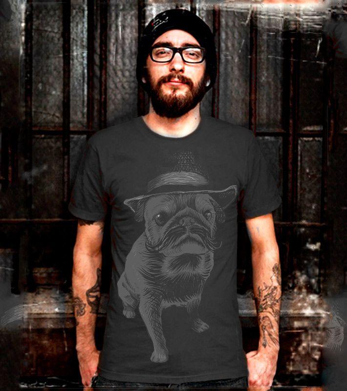 Estampa 'I'm not dog não' no Camiseteria. Autoria de Badaro