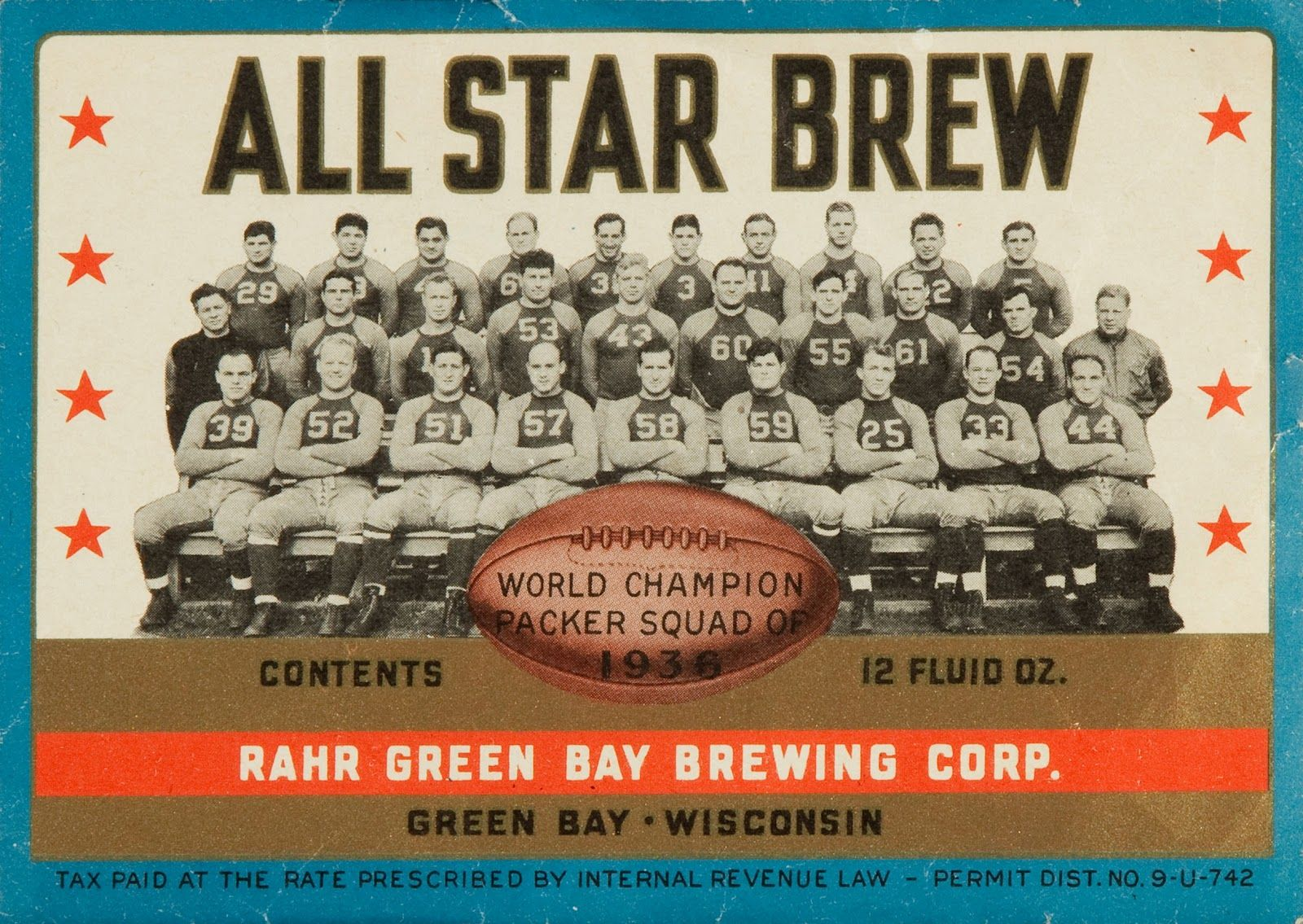 All Star Brew With The 1936 Packers Green And Gold The