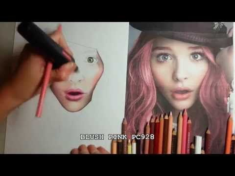 Realistic skin tutorial chloe moretz prismacolor and tips youtube