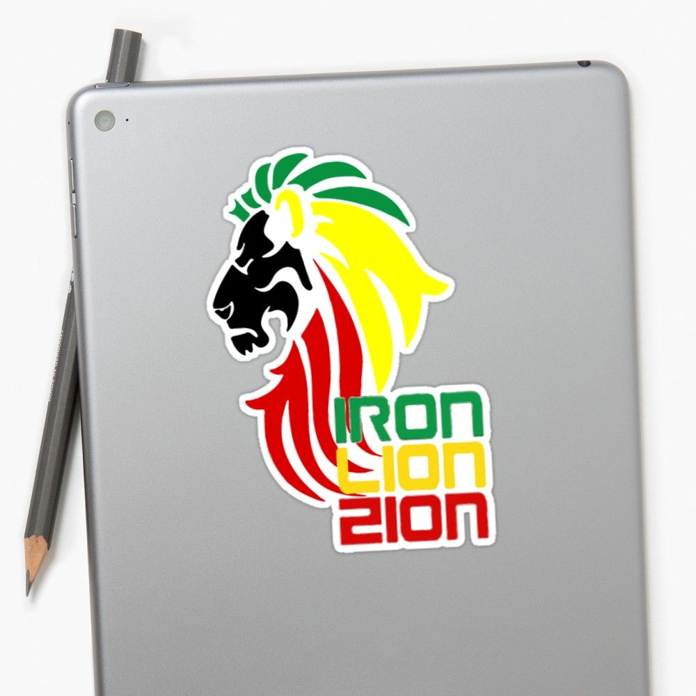 Reggae rasta iron lion zion sticker also available as t shirts hoodies men women apparel stickers redbubble decals stickers collectibles iphone