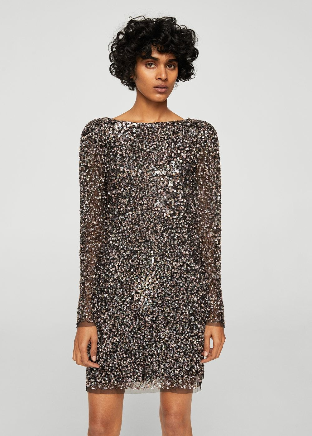 Sequin embroidered dress - Woman   mango   Dresses, Sequins, Fashion bc4da0cddbe9