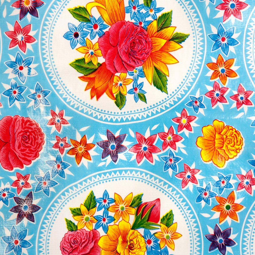 Rosario blue | Self-adhesive foil | Kitsch Kitchen | www.kitschkitchen.nl/webshop