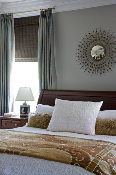 Elegant Bedroom Photos. Brown BedroomsSunburst MirrorSleigh ...