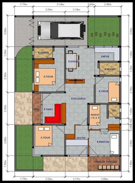 Denah Rumah Type 100 : denah, rumah, Bogota, Taste, Rumah, Denah, Rumah,, Desain, Gudang,, Minimalis