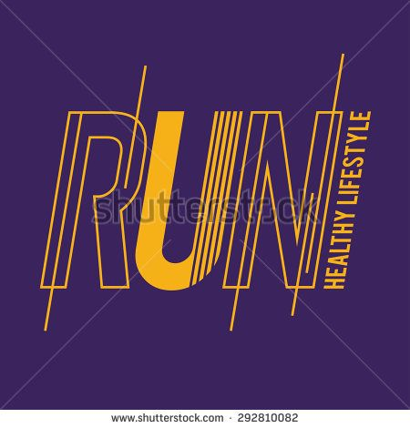 vector illustration Running a healthy lifestyle, graphics for t-shirt ,vintage design,  imposed geometric dynamic pattern background