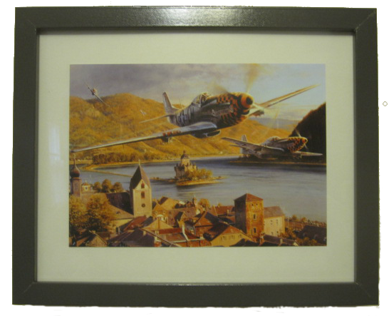 "EAGLES OVER THE RHINE by Robert Taylor $25.95 (ready-framed Art card print). Print size 5 1/2""x8"" / Framed size 12""x10"""