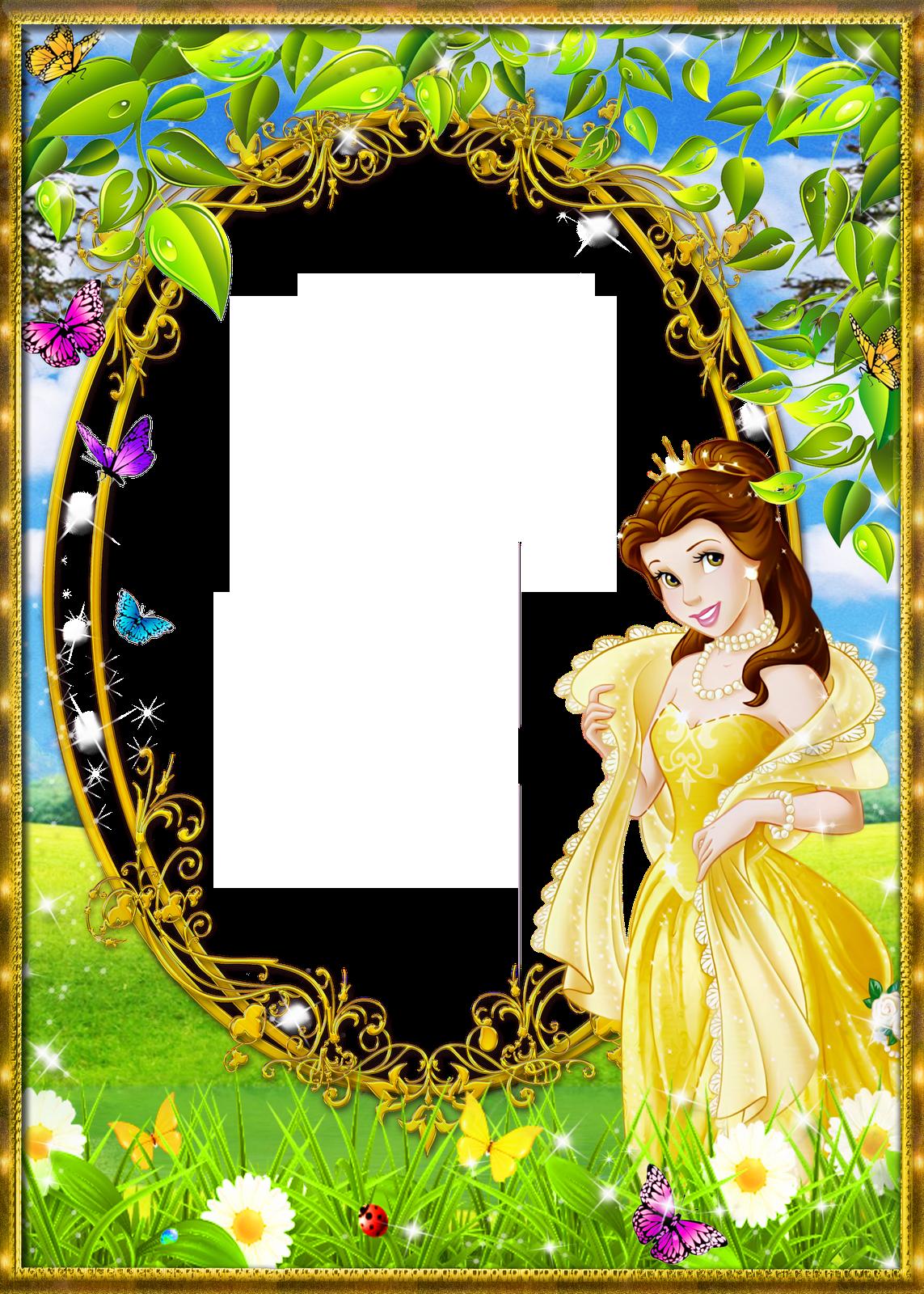 cute princess kids png transparent frame