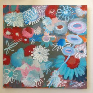 Susan Schwake - Flower Power - acrylic on wrapped canvas