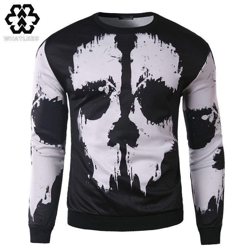 Men/Women Hoodies Sweatshirt Autumn Fashion Design Mens Slim Fit 3D Skull Printed Harajuku Pullover Sweatshirts