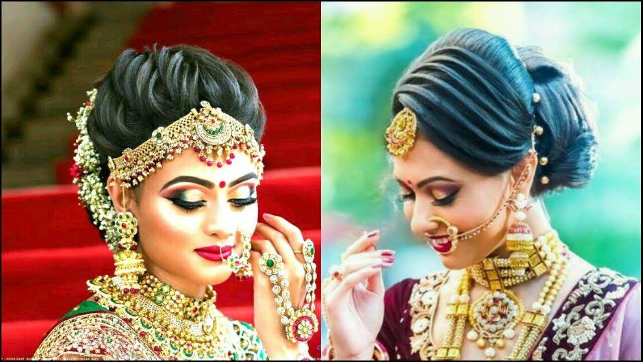 latest bridal hairstyle big bun 2018    south indian brides