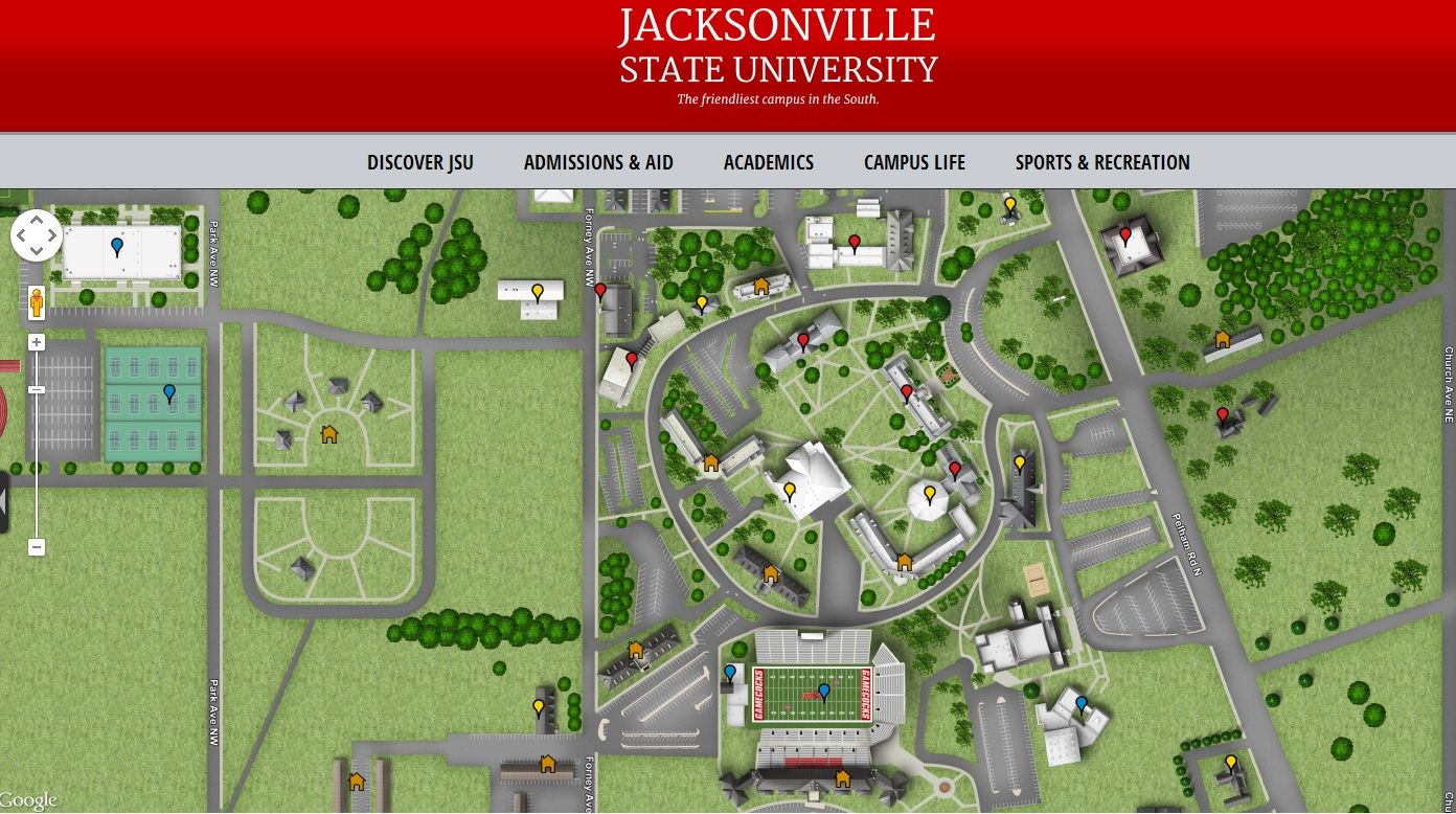 jacksonville state university campus map Don T Forget To Utilize This Interactive Map Of Jacksonville jacksonville state university campus map