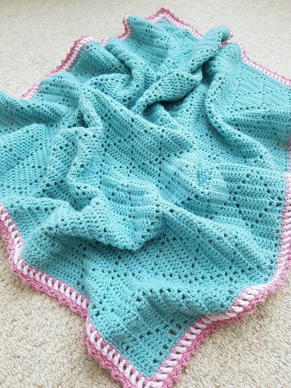 Peek-a-Boo Crochet Baby Blanket - Complete! | Muster und Häkeln
