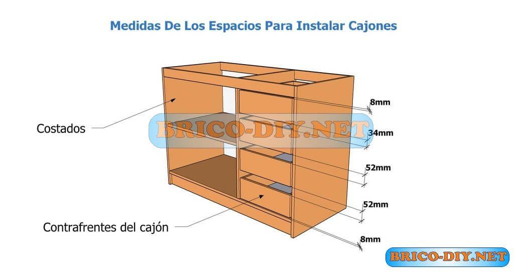 Modulo de cocina en melamina plano con medidas | muebles | Pinterest ...