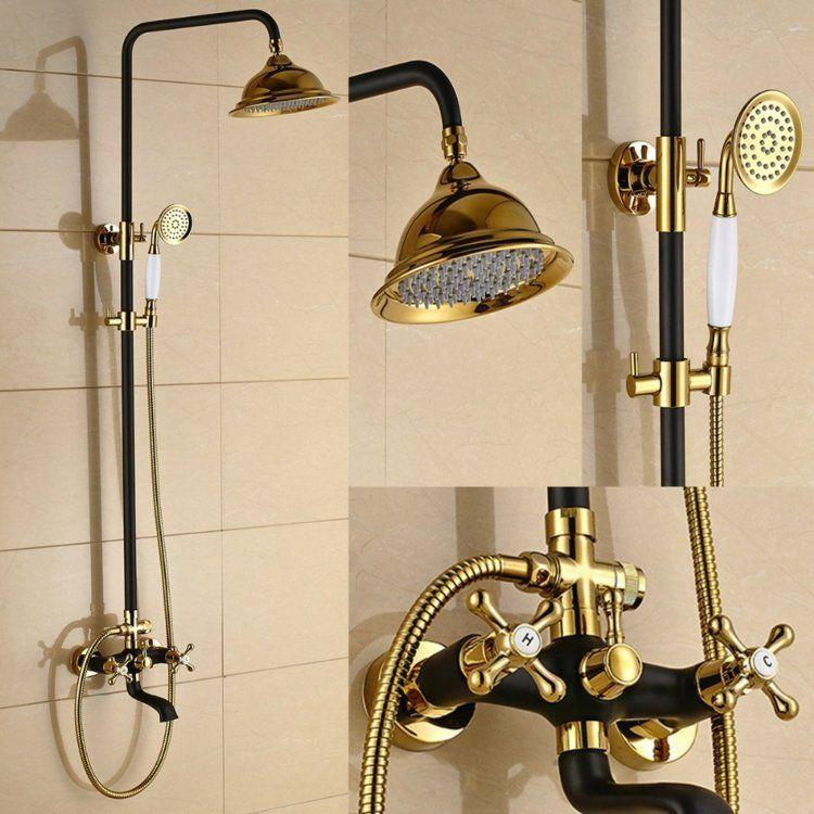 Robinet Douche Et Baignoire Moderne Ou Retro En 24 Idees De Design Robinet Douche Baignoire Moderne Douche
