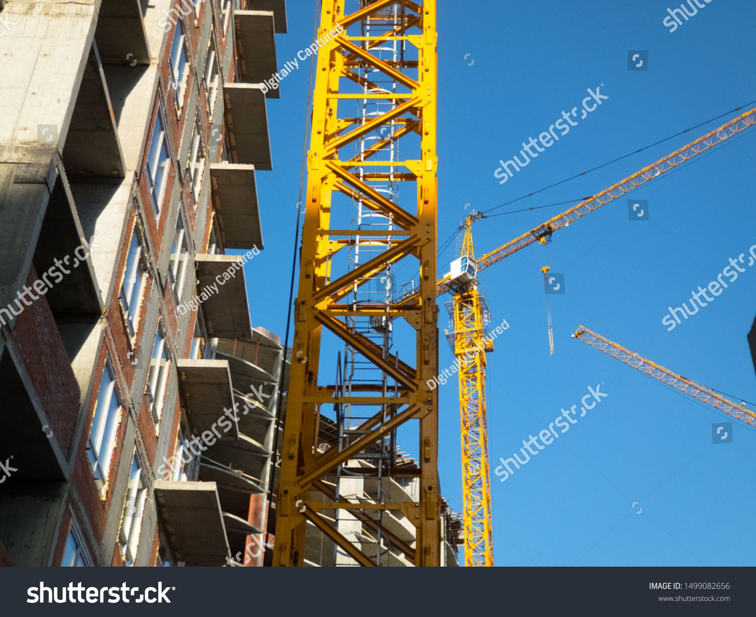Building Construction On Monolithic Technology Construction Of The Building Concrete Frame Of T Social Media Design Graphics Graphics Design Ideas Background