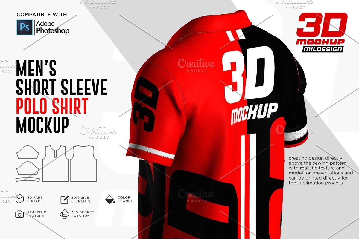 Download 3d Polo Shirt Jersey Mockup Sponsored Adobe Photoshop Mockup File Polo Shirt Short Sleeve Polo Shirts Photoshop Mockup