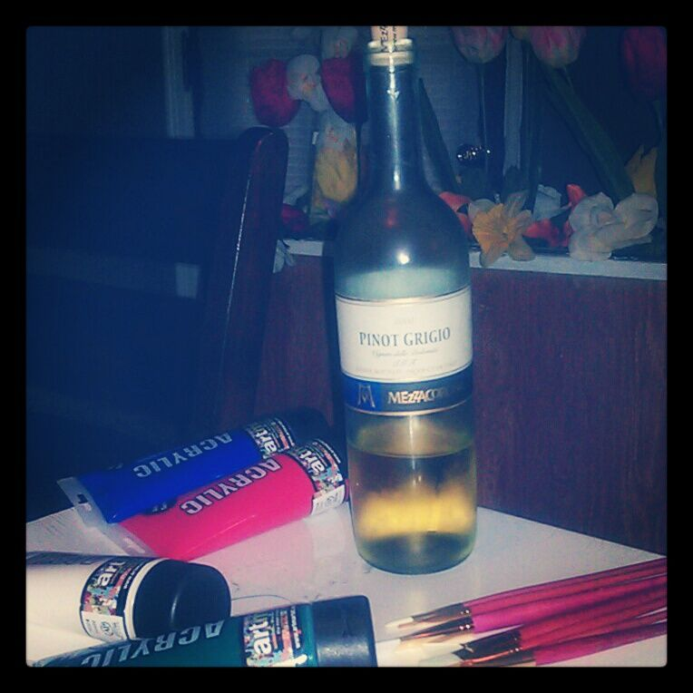 wine and painting are two things i love!