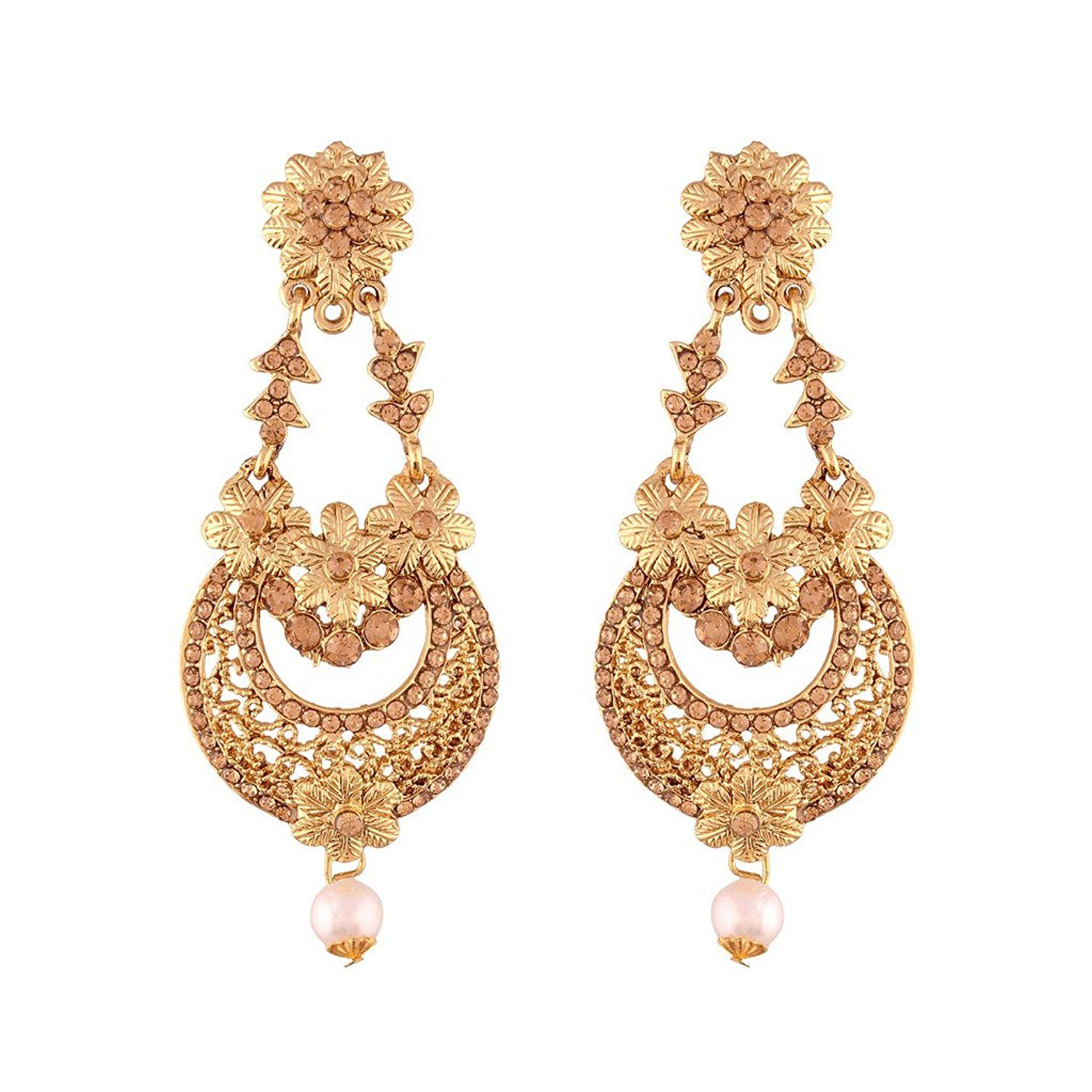 Gold Plated Traditional Chandelier Earrings.. Fashion