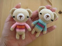 Amigurumi Teddy Bear Free Patterns : Amigurumi teddy bear with sweater free crochet pattern amigurumi