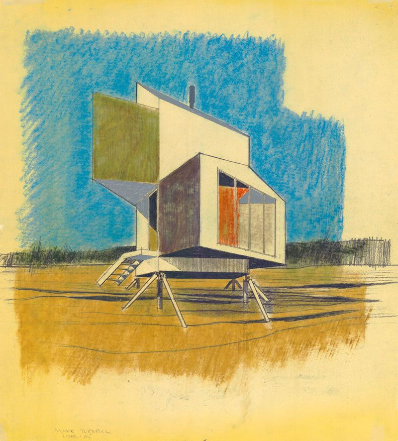 Prefab house concept for Alcoa by Charles W. Moore and William Turnbill
