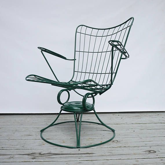 Mid Century Wire Patio Chair / Homecrest Vintage Chair /