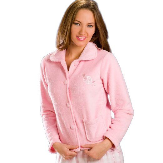 Amazon Com Camille Womens Ladies Luxury Pink Soft Warm Button Up