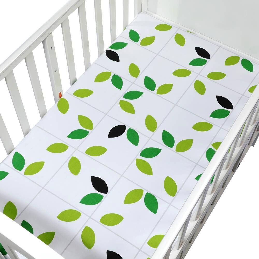 Baby Cotton Bedding Fitted Sheet Bed Cover Bed Crib Mattress Protector Bedspread 130 70 Cm