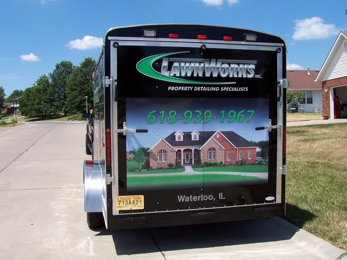 Lawn care advertising ideas - Enclosed Trailer Lettering Prices Any Pics Out There Enclosed Trailerslawn Careinsulationbusiness Ideasletteringlandscapingadvertising