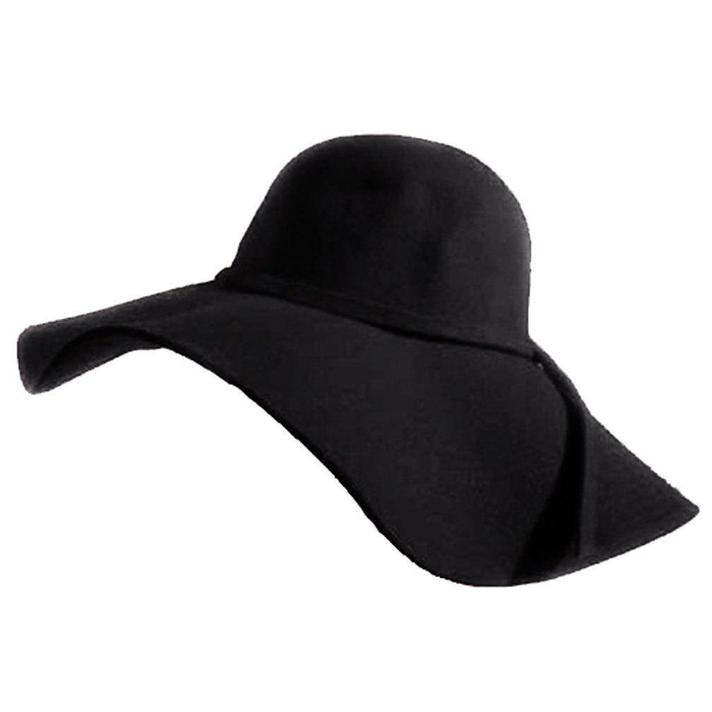 Luxury Divas Sensational Black Wide Brim Diva Style Floppy Hat at Amazon  Women s Clothing store  Sun Hats c21ebbc0486