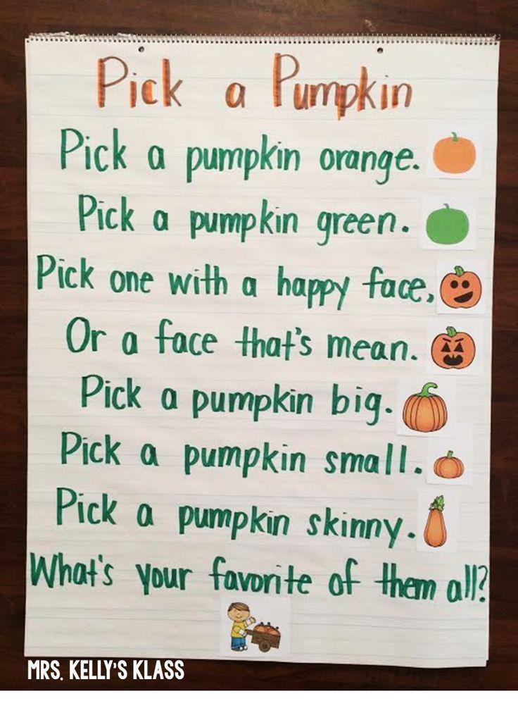 It U0026 39 S Fall    Cute Poem For Pumpkins