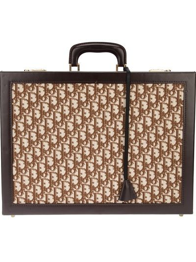 078a68f6eb CHRISTIAN DIOR VINTAGE Monogram Embellished Briefcase | Men's High ...