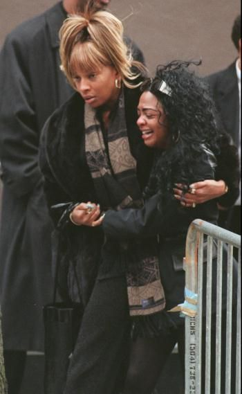 Image result for mary j blige biggie's funeral