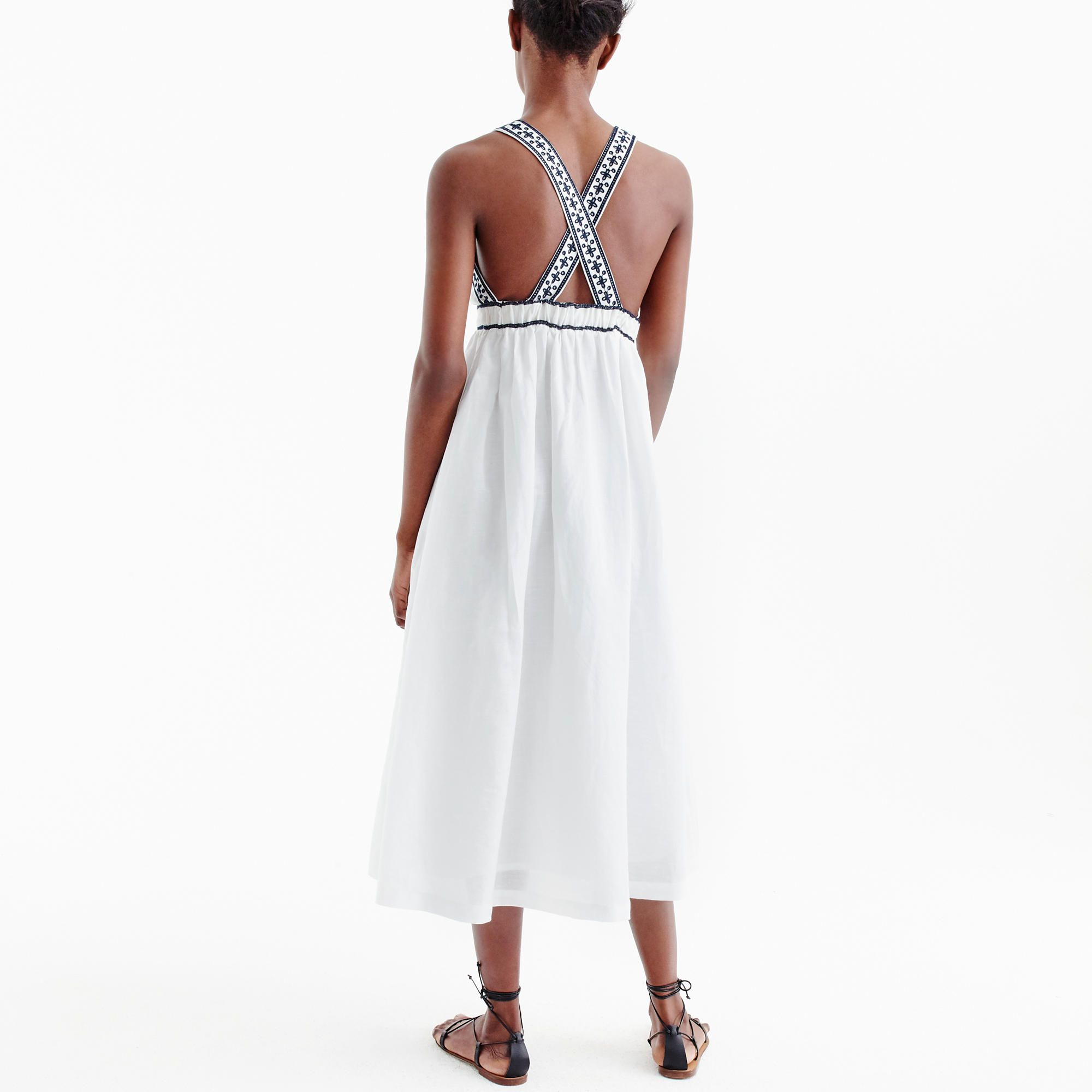 Embroidered cross-back maxi dress | Pinterest