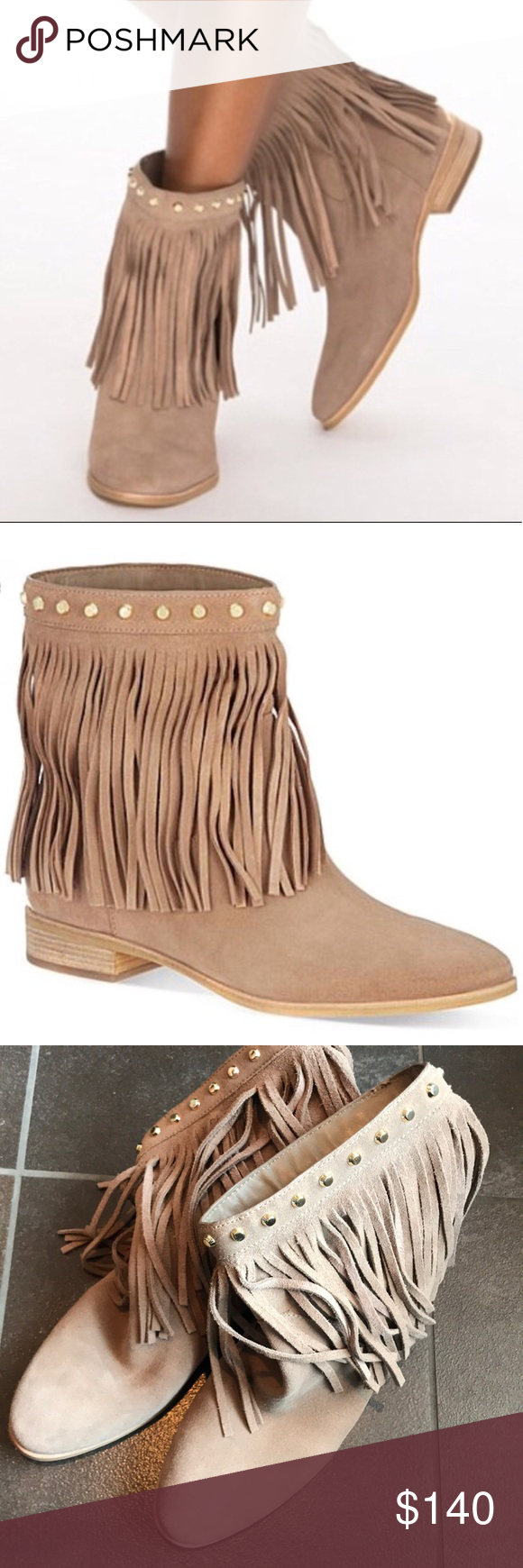 45d92db3bbc60 Spotted while shopping on Poshmark  ⭐️Michael Kors Fringe Suede Leather  Shoe Boots!  poshmark  fashion  shopping  style  Michael Kors  Shoes