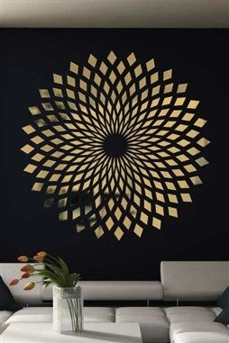 Diamond Starbust Mirror Decal Wall Art Chrome Or Gold 6 Sizes Walltat Com In 2020 Starburst Wall Art Reflective Wall Decals Mirror Decal