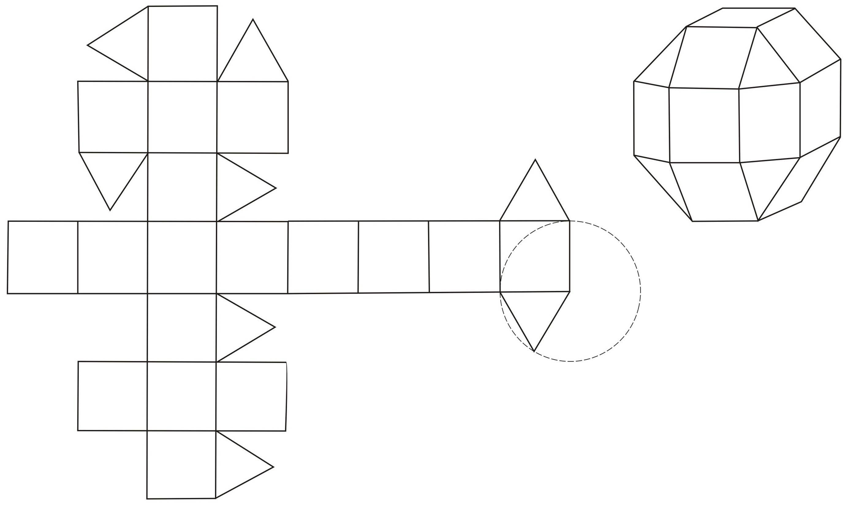 Объемные геометрические фигуры из бумаги своими руками схемы шаблоны