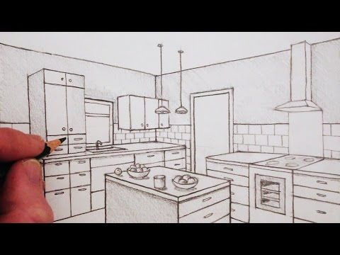 How To Draw A Room In Two Point Perspective Time Lapse Youtube Perspective Room 2 Point Perspective Drawing