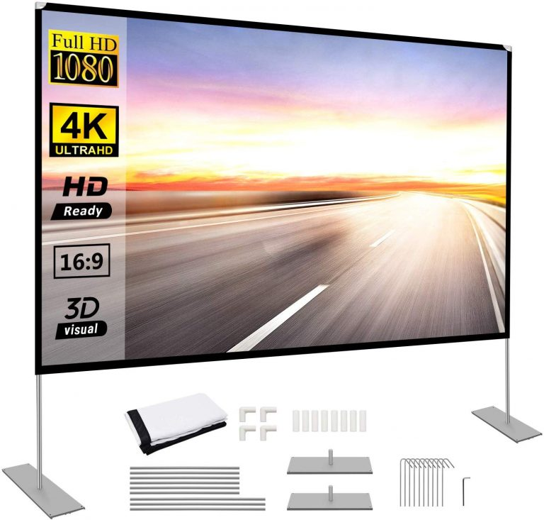 10 Best Portable Projector Screens In 2020 Buying Guide Bestlist In 2020 Portable Projector Screen Outdoor Movie Screen Projector Screen