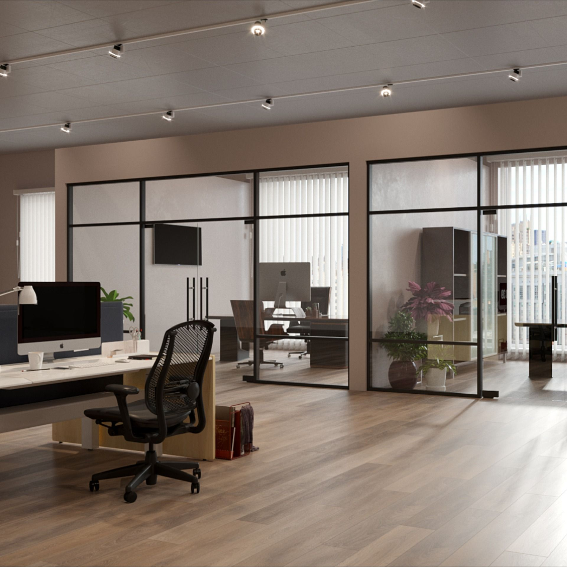 Glass Partition Walls With Aluminium Frame In 2020 Glass Partition Glass Wall Design Glass Conference Room